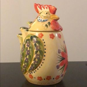 Fontana tabletops Rooster  hand painted  canister.